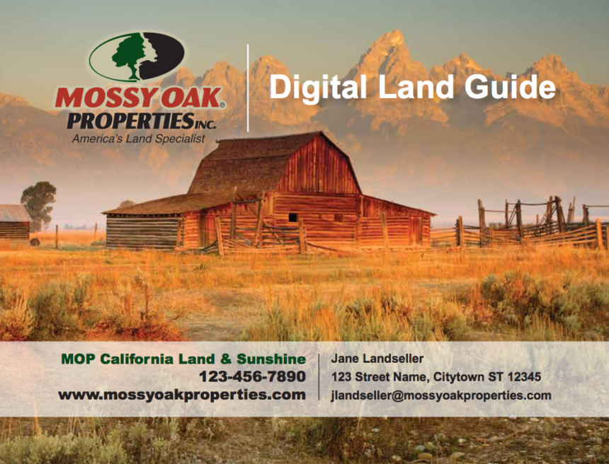 MOP Digital Land Guide automagically creates a professional listings PDF