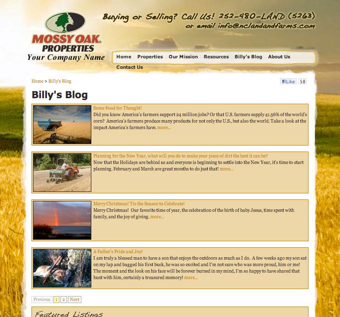 NC Land & Farm Billy's Blog