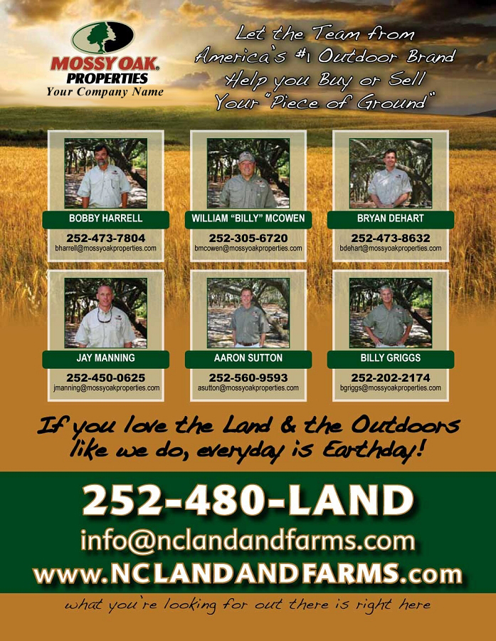 MOP NC Land and Farms Magazine Ad