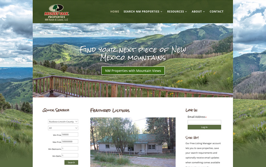 Website for NH Ranch and Home