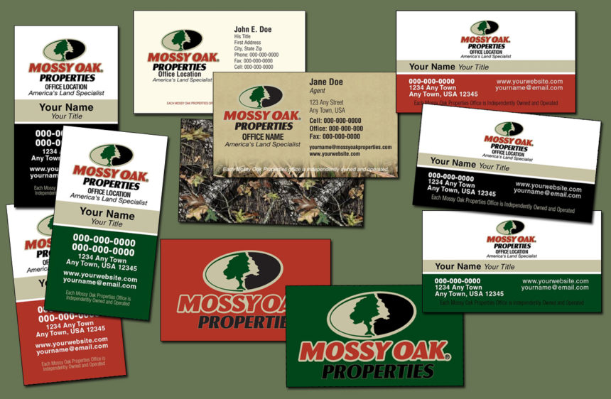 Traditional Business Cards – Customize It! with MOP Colors and Camos