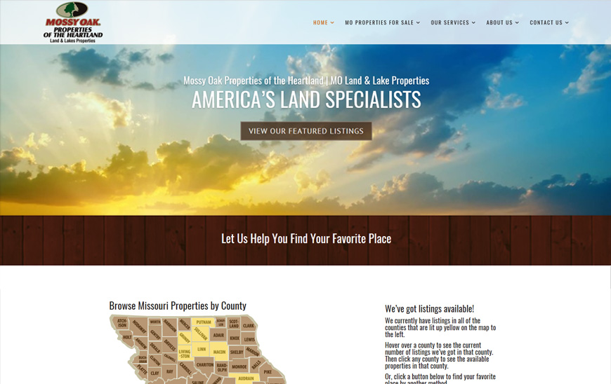 Website for moland lakes