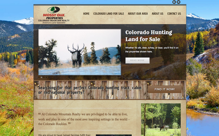 MOP Colorado Mountain Realty Website