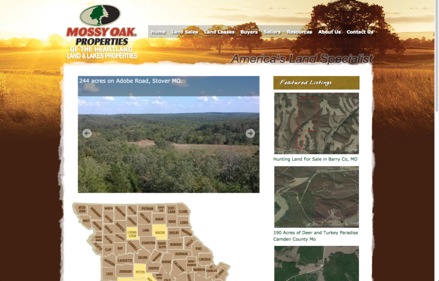 MOP Land & Lakes Properties Website