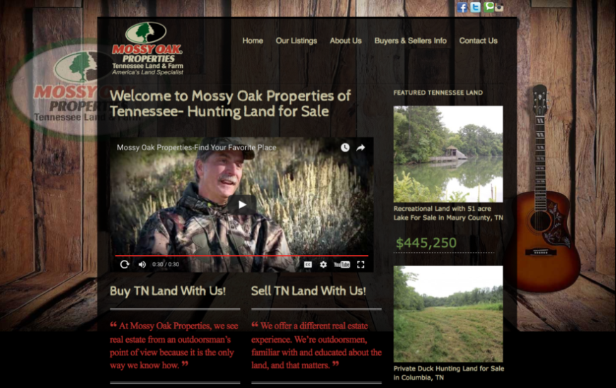 Website for MOP Tennessee Land & Farms